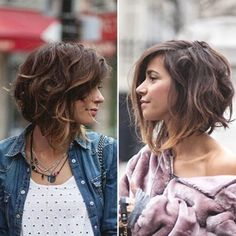 Coupe de cheveux d& , Summer Haircuts, Summer Hairstyles, Braided Hairstyles, Funky Bob Hairstyles, Mid Length Curly Hairstyles, Fashion Hairstyles, Medium Hair Cuts, Medium Hair Styles, Curly Hair Styles