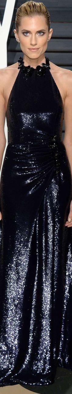 Allison Williams 2017 Vanity Fair Oscar Party