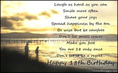 18th Birthday Wishes For Son Or Daughter Messages From Parents To Children