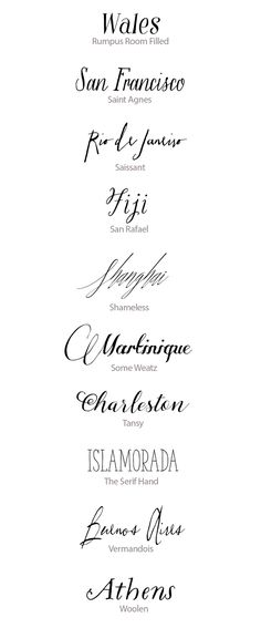 Hand-Lettered Calligraphy Fonts