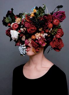 In case you haven't noticed, we LOVE flowers. Thus explains why we may have gotten a little (a lot) carried away on this beautiful We hope you ap Bloom, Arte Floral, Jolie Photo, Love Flowers, Colorful Flowers, Her Hair, Art Photography, Conceptual Photography, Flower Crown