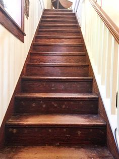 Best Stained And Distressed Stairs Rooms Hallways And 400 x 300