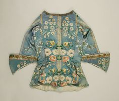 Riding bodice Date: ca. 1750 Culture: European Medium: silk Dimensions: [no dimensions available] Credit Line: Purchase, Irene Lewisohn Bequest, 1970 Accession Number: 1970.161.6