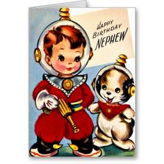 12 Best Boys Retro Birthday Cards Images