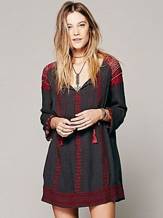 Free People Wild Child Embroidered Dress