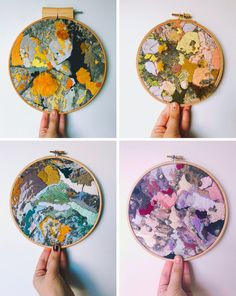 Macro Views of British Beaches Become Abstract Textural Embroideries by Emily Botelho (Colossal) Abstract Embroidery, Modern Embroidery, Embroidery Hoop Art, Cross Stitch Embroidery, Embroidery Patterns, Textiles Techniques, Embroidery Techniques, Art Techniques, Colossal Art