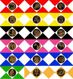 Mighty Morphin Power Coins from all 3 seasons. Power Rangers Season 1, Power Season 1, Power Rangers 2017, Power Ranger Party, Power Rangers Ninja, Go Go Power Rangers, Mighty Morphin Power Rangers, Season 3, Wiccan Spell Book