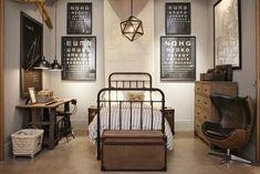L\'éternel style industriel   Chambres, Chambre garcon et Industriel