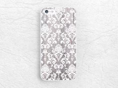 White Damask grey wood print Phone Case for iPhone 6 iPhone 5s 5c, Sony z1 z2 z3, LG g2 g3 nexus 5, Moto x Moto g, elegant floral lace -G11 by CasesByLorraine on Etsy https://www.etsy.com/listing/214084687/white-damask-grey-wood-print-phone-case