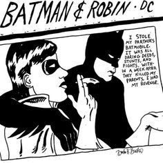 "Batman and Robin-This is the cover of Sonic Youth's 1990 album ""Goo"""