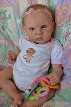 OOAK Reborn baby girl with 3d skin McKenzie    art doll artist newborn