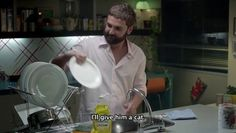 «Washing up is therapeutic» -