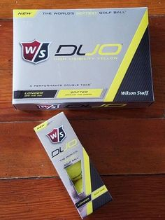 Wilson DUO Golf Balls High Visibility Yellow Low Compression One Dozen #Wilson