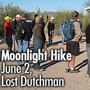 Moonlight Hikes Rock! Check out this on June 2 at Lost Dutchman State Park