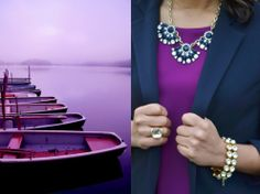 J Crew Necklace + Radiant Orchid