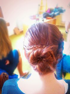 Such a beautiful hairstyle! I'm sorry for bad quality of photo, but friend's hands were a little bit shaking after very good job with my hair :)