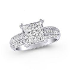 1 CT. Endless Diamond Square Frame Engagement Ring