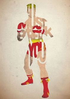 steel poster Movies & TV rocky ivan drago boxing quote type typography movie film