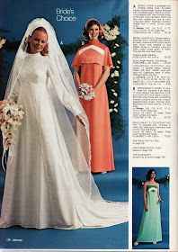 Ahh, July is definitely the month for weddings (okay there are more weddings in June, but hey, let's not get picky.) And with recent develo. Vintage Wedding Photos, Vintage Bridal, Vintage Weddings, Bridal Headpieces, Bridal Gowns, Wedding Gowns, 1970s Wedding Dress, Yes To The Dress, Well Dressed