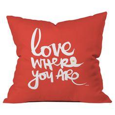Kal Barteski Love Red Throw Pillow