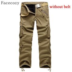 Facecozy Men Outdoor Sports Softshell Pant Male Winter Warm Windproof Inner Fleeces Thick Trouser Plus Size