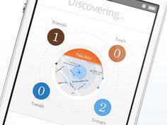 circular UI - Mobile interface UI UX