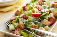 In this impressive Chopped Chicken Caesar Salad for Two, eating smart and eating deliciously are one and the same.
