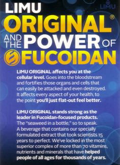 I use Limu Original Drink with Fucoidan for my health, use the Limu Meal Replacements to manage my weight, have lost 24 pounds. I walk 40 miles every week using the BluFrog Energy Drink. If you would like to be healthy use Limu products. Order here: http://markglocke.iamlimu.com/        Distributor I.D. 8767176