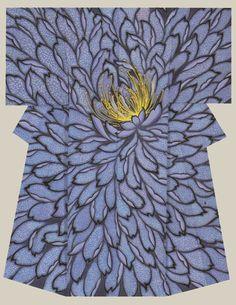 """""""Double cherry blossom"""", a kimono created by artist Takizawa Akira. Osaka Takashimaya Award"""