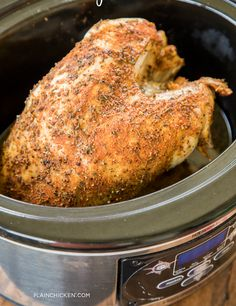 For A Smaller Crowd, Try Easy Slow Cooker Turkey Breast Slow Cooker Turkey, Crock Pot Slow Cooker, Crock Pot Cooking, Slow Cooker Recipes, Cooking Recipes, Crockpot Meals, Crock Pot Turkey, Turkey Crockpot Recipes, Crockpot Turkey Breast Recipe