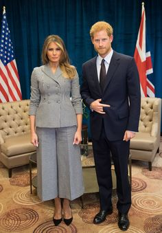 Body Language Experts Explain Harry's Strange Pose With Melania Trump