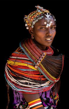 woman of the rendille people, northern kenya | traditional african culture