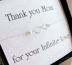 Mother of the bride or groom gifts by OtisBWeddings. Not a fan of the infinity symbol, but liking the general idea.