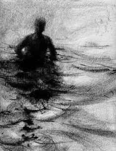 Deze unieke kunst-tekening met een adellijke titel Wander nr. 36, toont een enige figuur waden in een niet-gedefinieerde lichaam van water. De tekening is gedaan op getextureerde houtskool papier, en is ingelijst. Meten 9 x 11.5, de tekening is uitgevoerd met lithografische crayon en ontstond in 2009.  Deze tekening is uit een groot aantal kunstwerken die de meest ernstige vorm van isolatie als eenzaamheid die wordt ervaren wanneer fysiek presenteert omringd door andere mensen. Dit is een…