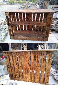 This exciting wood pallet pallet bar furniture has been completely composed of the pallets in an artistic images. It do bring about the involvement of the arrangement of the pallet planks in the standing resting positioning that are being style up within the fancy and artful concepts.