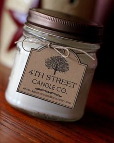 Ideas For Diy Candles Scented Soy Mason Jars Diy Candle Labels, Diy Candles Scented, Candle Packaging, Aromatherapy Candles, Handmade Candles, Mason Jar Candles, Soy Wax Candles, Old Candle Jars, Yankee Candles