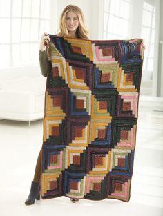 Log Cabin Arrow Crochet Afghan Pattern