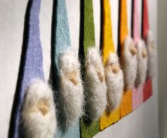 Felt Rainbow Gnome Magnets  - Waldorf Inspired
