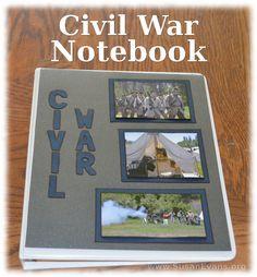 Civil War Notebook (includes video demonstration with completed Civil War notebook!)  - http://susanevans.org/blog/civil-war-notebook/