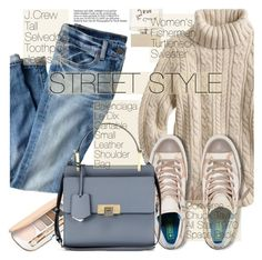 """""""Street Style"""" by pokadoll ❤ liked on Polyvore featuring J.Crew, Jane Iredale, Converse, Balenciaga, Bella Freud, polyvorecommunity, polyvoreeditorial, polyvorefashion and polyvoreset"""