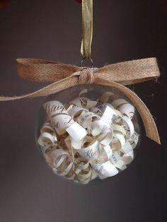 Rustic Wedding Invitation Ornament // Great Bridal Shower Gift! Etsy / Handmade / Breakfast with Bentley