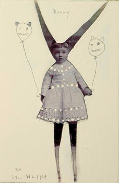 Lynn Whipple's ninnies are seriously cute. Her strong work stands out in a sea of mixed-media sameness.
