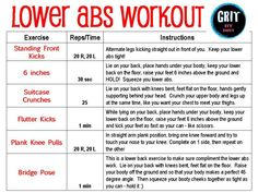 30 day challenge workout | Lose the POOCH! Complete workout for your LOWER ABS | GRIT by Brit Abs Workout Video, Abs Workout Routines, Ab Workout At Home, At Home Workouts, Workout List, Workout Partner, Free Workout, Workout Plans, Lower Tummy Workout