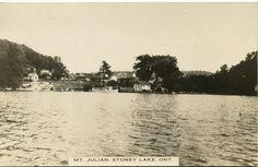 Vintage RPPC of Mt. Julian - Stoney Lake, Ontario Types Of Photography, Vintage Photography, Ontario Cottages, Peterborough Ontario, Stony, Vintage Postcards, Canada, Spaces, Outdoor