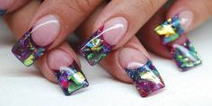 Stained Glass Nails www.nailsmag.com