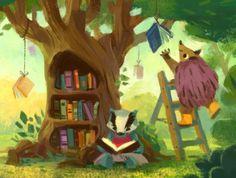 Cada bosque tiene su biblioárbol (ilustración de Simini Blocker)
