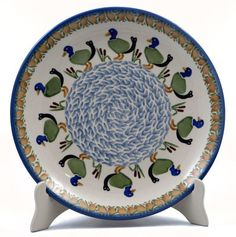 """10"""" Dinner Plate (Ducks in a Row) from The Polish Pottery Outlet"""