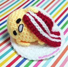 stuff susie made: Weird or Cute Gudetama? -- GUDETAMA AMIGURUMI!!!