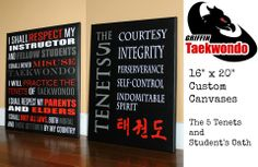 Great Taekwondo Pieces, suitable for any studio or great inspiration for students to have at home :)