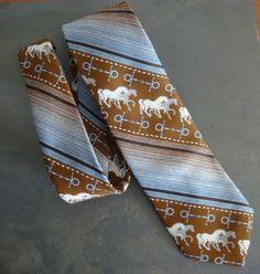 Vintage Tex Tan Mens Necktie 1960s Western by retrocorrect on Etsy
